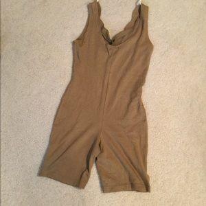 Vintage 90's bodysuit romper Olive Grunge medium